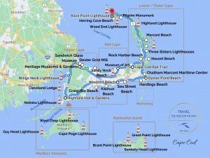 Cape Cod Attractions Map