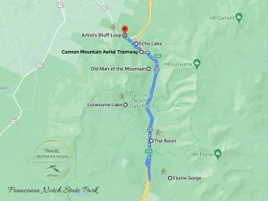 Franconia Notch State Park Attractions Map
